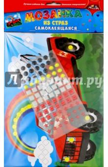 Мозаика из страз самоклеящаяся Грузовик (С3081-01)Аппликации<br>Порадуйте вашего ребенка набором для творчества Мозаика из страз. Он очень прост в использовании. На цветную картонную основу приклеивайте элементы из страз. Каждому элементу соответствует свой цвет на рисунке. Будьте внимательны, и у Вас получится замечательная объемная яркая аппликация. <br>Состав: этиленвинилацетат, бумага.<br>Не рекомендовано детям младше 3-х лет. Содержит мелкие детали.<br>Сделано в Китае.<br>