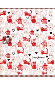 """Тетрадь """"Веселые коты"""" (96 листов, 5 видов) (44553) Феникс+"""