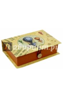 Коробка подарочная ВОЗДУШНЫЙ ШАР (36489)Шкатулки<br>Коробка подарочная.  <br> Материал: мелованного, ламинированного, негофрированного картона плотностью 1100 г/м2<br>Полноцветный декоративный рисунок на внутренней и наружной части<br>Размер 18 х 12 х 5 см.<br>Сделано в Китае.<br>