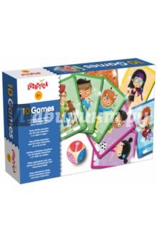 Игра настольная 10 ИГР, 10 в 1 (47246)Карточные игры для детей<br>Набор оригинальных и веселых игр с двумя колодами карт большого размера. Каждый участник может, бросив кубик, выбрать одну из 10 игр. <br>Этот комплект развивает логику, внимание, память и целеустремленность.<br>Состав набора:<br> - 2 колоды по 25 карт<br> - кубик<br> - инструкции<br>Размер коробки:22,5х13,5х4,5 см<br>Количество игроков: 2-5.<br>Возраст: 3-7 лет.<br>Упаковка: картонная коробка.<br>Сделано в Италии.<br>