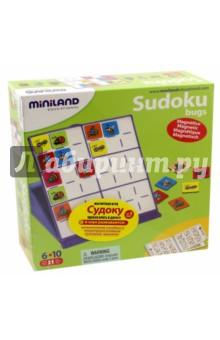 Магнитная игра Судоку (36054)Игры на магнитах<br>Магнитная игра «Судоку». Игровой набор,  разработанный специально для детей представляет собой облегченную версию популярной математической японской  головоломки.  Игровое поле представляет собой квадрат, разделенный на шесть полей. Каждое поле размечено на шесть квадратов 2x3. Цель игры -разместить карточки так, чтобы в каждой строке, в каждом столбце и в каждом малом квадрате 2x3 каждое насекомое встречалось только один раз. Игра отлично подходит для  изучения первых математических понятий,  развивает пространственную ориентацию, дедуктивное  мышление и логику. Идеально подходит для путешествий, поскольку изготовлена  из пластикового корпуса с магнитной поверхностью. <br>Состав: пластиковая магнитная  доска 15x15 см  с игровым полем  36 магнитных карточек с  насекомыми,<br>руководство по игре с различными предложениями по усложнению с решениями.<br>Рекомендованный возраст: от 6 до 10 лет.<br>Упаковка: картонная коробка.<br>Сделано в Китае.<br>