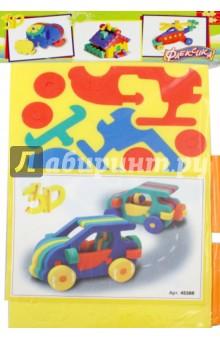 Конструктор Автомобильчик (45388)Конструкторы из пластмассы и мягкого пластика<br>Конструктор мягкий Автомобильчик.<br>Выполнен из мягкого, прочного, нетоксичного, абсолютно безопасного материала.<br>Игрушка направлена на развитие у ребёнка памяти, воображения, фантазии, моторики, пространственного и логического мышления.<br>Обучение происходит в процессе игры.<br>Благодаря особой структуре материала и свойству прилипать к мокрой поверхности, является идеальной игрушкой для ванны. <br>Материал: пенополиэтилен.<br>Упаковка: блистер.<br>Для детей от 3 лет.<br>Сделано в России.<br>