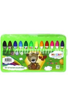 Фломастеры Rainbow (12 цветов, со штампами) (М-5059-12)Фломастеры 12 цветов (9—14)<br>Фломастеры Rainbow со штампами.<br>Количество цветов: 12.<br>Пластиковый корпус 95 мм.<br>Вентилируемый колпачок.<br>В пластиковом чемоданчике.<br>Состав: фибра, пластик, чернила. <br>Сделано в Китае.<br>