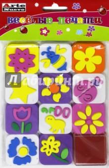 Веселые печати Цветы (DT-1014)