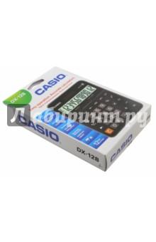 Калькулятор настол Casio черный/коричневый 12-разрядный (DX-12B)Калькуляторы<br>Калькулятор настольный.<br>Питание: солнечный элемент, батарейка.<br>Разрядность дисплея:  12-разрядный<br>Специальные функции: наценка %, общий итог памяти.<br>Материал: пластмасса с элементами из металла.<br>Упаковка: картонная коробка с подвесом.<br>Сделано в Китае.<br>