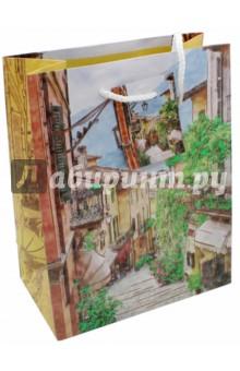 """Бумажный пакет """"Итальянский дворик"""" (17,8х22,9х9,8 см) (43510) Феникс-Презент"""