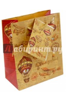 """Бумажный пакет """"Самолеты и дирижабли"""" (11х13,7х6,2 см) (44167) Феникс-Презент"""