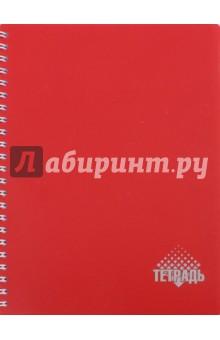 Тетрадь на спирали, 96 листов. А5. Обложка: красный пластик (С0791-12)Тетради в клетку 96л. и более, пружина<br>Тетрадь на спирали, 96 листов. <br>В клетку. <br>Обложка: пластик. <br>Тип бумаги: офсет. <br>Формат: А5.<br>