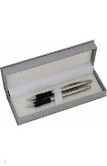 Набор Sterling: шариковая ручка + автоматический карандаш, металлический корпус (B460SS465-A) Pentel