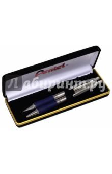 Набор Sterling: шариковая ручка 0,8 мм + автоматический карандаш 0,5 мм, в футляре (B460SS465-C) Pentel