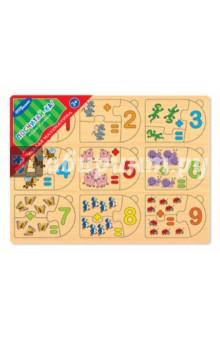 Игра из дерева Весёлая математика. Посчитай-ка! (89206)Развивающие рамки<br>Настольная игра Посчитай-ка из серии Веселая математика изготовлена из дерева. На доске в два ряда расположены цифры от 1 до 10. Под каждым числом нарисован предмет в соответствующем количестве. Визуальные образы помогут ребенку понять разницу между числами. А игровая форма сделает процесс обучения веселым и увлекательным.<br>В комплекте: рамка-основа, 20 элементов.<br>Материал: дерево.<br>Для детей от 3 лет.<br>Сделано в России.<br>