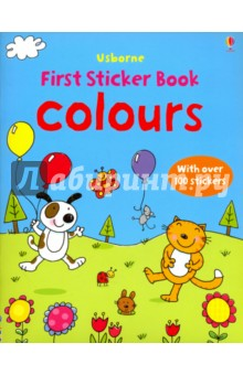 Colours Sticker BookЛитература на иностранном языке для детей<br>Presents a way for young children to begin learning their colors. This sticker book includes such scenes as space, a farm and a jungle. It lets children enjoy fixing the picture stickers onto each scene.<br>