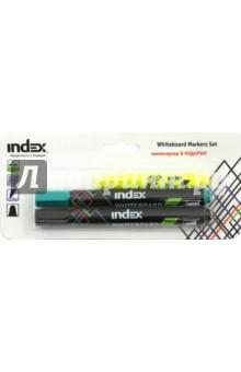 Набор маркеров для доски (2 цвета + текстовыделитель) (IMW540/2/P) INDEX