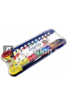 Гуашь Giotto Extra Fine. 12 цветов + кисть и палитра (304100)Гуашь 12 цветов (9—14)<br>Гуашь Giotto Extra Fine. 12 цветов в металлических тубах по 12 мл. <br>В пластиковом кейсе.<br>Сделано в Китае.<br>В комплекте кисть и крышка-палитра.<br>