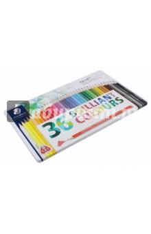 Набор карандашей, 36 цветов Ergosoft (157M36)Цветные карандаши более 20 цветов<br>Набор цветных карандашей.<br>36 штук, 36 цветов.<br>С А-В-S системой.<br>Материал: дерево.<br>Упаковка: металлическая коробка.<br>Сделано в Германии.<br>