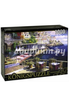 Puzzle-1000 Кафе у моря (АЛК1000-6484)Пазлы (1000 элементов)<br>Пазл.<br>Количество элементов: 1000.<br>Размер собранной картинки: 685х485 мм<br>Материалы: картон.<br>Упаковка: картонная коробка.<br>Сделано в России.<br>