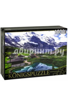 Puzzle-1000 Горный пейзаж (КБК1000-6458)Пазлы (1000 элементов)<br>Пазл.<br>Количество элементов: 1000.<br>Размер собранной картинки: 685х485 мм<br>Материалы: картон.<br>Упаковка: картонная коробка.<br>Сделано в России.<br>
