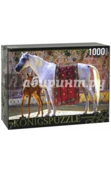 Puzzle-1000 Лошадь с жеребенком (КБК1000-6470)Пазлы (1000 элементов)<br>Пазл.<br>Количество элементов: 1000.<br>Размер собранной картинки: 685х485 мм<br>Материалы: картон.<br>Упаковка: картонная коробка.<br>Сделано в России.<br>