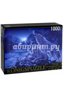 Puzzle-1000 Волки и ночные горы (МГК1000-6476)Пазлы (1000 элементов)<br>Пазл.<br>Количество элементов: 1000.<br>Размер собранной картинки: 685х485 мм<br>Материалы: картон.<br>Упаковка: картонная коробка.<br>Сделано в России.<br>