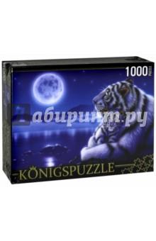 Puzzle-1000 Белые тигры под луной (МГК1000-6478)Пазлы (1000 элементов)<br>Пазл.<br>Количество элементов: 1000.<br>Размер собранной картинки: 685х485 мм<br>Материалы: картон.<br>Упаковка: картонная коробка.<br>Сделано в России.<br>