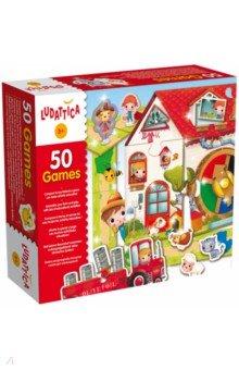 Игра настольная 50 игр (50 в 1) (51564)Другие настольные игры<br>Набор из 50 игр с более 100 компонентами. Паззлы, лото, игры-мемори. Игра знакомит с животными и геометрическими фигурами. Развивает логическое мышление, память, цветовосприятие, мелкую моторику. В комплект входит буклет с руководством по правилам игр.<br>Продукт разработан в Италии, в Центре Исследований и Разработки Lisciani. <br>Иллюстратор Морсия Джордано (Morsia Giordano)<br>Возраст: от 3 лет<br>