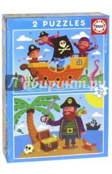 Пазлы 2х20 Пираты (17149)Наборы пазлов<br>2 пазла.<br>Количество элементов: 40.<br>Размер собранного изображения: 28х20 см. <br>Материалы: бумага, картон.<br>Упаковка: картонная коробка.<br>Не рекомендовано детям младше 3-х лет. Содержит мелкие детали. <br>Сделано в Испании.<br>