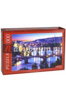 Puzzle-1000 Вечерние мосты (КБ1000-6887)Пазлы (1000 элементов)<br>Пазлы - популярная занимательная игра, которая развивает мелкую моторику рук, память, внимание посредством собирания яркой и красочной картинки, состоящей из мелких деталей. <br>Серия 1000 элементов - это огромное разнообразие дизайнов - города и страны, животные и птицы, искусство и живопись и многое-многое другое. <br>Количество элементов: 1000<br>Размеры собранной картинки: 68,5х48,5 см.<br>Материал: картон<br>Упаковка: картонная коробка<br>Сделано в России.<br>
