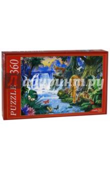 Puzzle-360 Тигры у водопада (МГ360-4002)Пазлы (200-360 элементов)<br>Популярная занимательная игра, которая развивает мелкую моторику рук, память, внимание посредством собирания яркой и красочной картинки, состоящей из мелких деталей.<br>Количество элементов: 360.<br>Размер собранной картинки: 500x345 мм.<br>Материал: картон.<br>Упаковка: картонная коробка.<br>Сделано в России.<br>