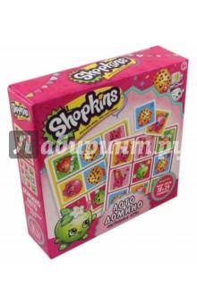 Настольная игра Shopkins 2 в1. Лото, домино (02811)Домино<br>Две самые популярные игры на свете теперь в одном наборе - вместе с неподражаемыми Шопкинсами! Собирайтесь всей семьей за большим столом и играйте в домино и лото. Малышу понравится!<br>Комплектность: Домино (28 фишек, мини - пазл 18 элементов).<br>Лото (30 фишек, 6 карточек игрового поля, мини - пазл 24 элемента).<br>Изготовлено из бумаги и картона.<br>Не рекомендовано детям младше 3-х лет. Содержит мелкие детали.<br>Для детей старше 4-х лет.<br>Сделано в России.<br>