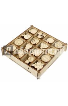 Набор украшений в коробке Фрукты (13,5х13,5)Скрапбук<br>Набор украшений в коробке Фрукты.<br>16 видов  украшений в одной коробочке, по 6 штук каждого вида<br>Коробка: 13,5х13,5 см<br>Размер изделия: 2,5-3 см.<br>