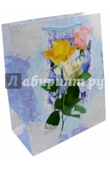 Пакет подарочный ламинированный. Размер: 327х264 мм. (L 3D 027)Подарочные пакеты<br>Пакет подарочный ламинированный. Декорирован глитером и объемной аппликацией.<br>Размер: 327х264 мм.<br>Ручки: текстиль.<br>