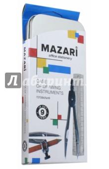 Готовальня (9 предметов) (М-4501) MAZARI