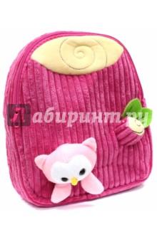Рюкзак детский Совенок (вельвет) (43456)Рюкзаки для малышей<br>Рюкзак детский имеет:<br>- 1 большое отделение на молнии.<br>- Ручку для переноски рюкзака в руках.<br>Длина лямок регулируется.<br>Объемные игрушки-аппликации.<br>Материал: полиэстер.<br>Размер: 28х24х8 см.<br>Для детей 3-6 лет.<br>Производство: Китай.<br>