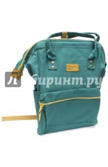 Рюкзак молодежный Зеленый (44268)Рюкзаки школьные<br>Рюкзак молодежный имеет:<br>- 1 большое отделение на молнии.<br>- 1 накладной карман спереди на молнии. <br>- 2 накладных кармана по бокам. <br>- Ручки для переноски рюкзака в руках.<br>Длина лямок регулируется.<br>Материал: полиэстер<br>Размер: 34х23х15 см.<br>Производство: Китай.<br>