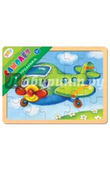 Игра из дерева Каруселька. Самолет (89038)Развивающие рамки<br>Пазл-мозаика из дерева.<br>В комплекте: 1 рамка-основа, 15 деталей.<br>Для детей от 2 лет.<br>Сделано в России.<br>
