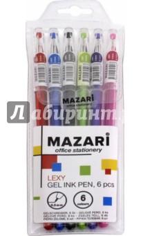 Набор ручек гелевых Lexy (6 цветов) (М-5507- 6)Наборы гелевых ручек<br>Набор ручек гелевых.<br>В наборе 6 цветов.<br>Характеристики:<br>- игольчатый пишущий узел 0.5 мм;<br>- наконечник в форме кристалла;<br>- цветной пластиковый корпус.<br>Состав: металл, пластик, чернила.<br>ПВХ-упаковка с европодвесом.<br>Сделано в Китае.<br>