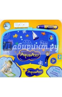Коврик AquaArt для рисования водой (синий, чемоданчик) (Т10156)Водные раскраски<br>Коврик AquaArt для рисования водой.<br>Складывается в чемоданчик.<br>В наборе: коврик, водный маркер.<br>Размер коврика: 30х23 см.<br>Материалы коврика: нейлон 100%, картон, текстильные материалы, наполнитель: губка.<br>Материал маркера: пластмасса.<br>Для детей от 3-х лет.<br>Сделано в Китае.<br>