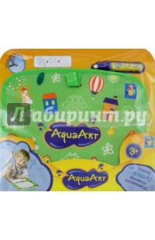 Коврик AquaArt для рисования водой (зеленый, чемоданчик) (Т59403)Водные раскраски<br>Коврик AquaArt для рисования водой.<br>Складывается в чемоданчик.<br>В наборе: коврик, водный маркер.<br>Размер коврика: 20х23 см.<br>Материалы коврика: нейлон 100%, картон, текстильные материалы, наполнитель: губка.<br>Материал маркера: пластмасса.<br>Для детей от 3-х лет.<br>Сделано в Китае.<br>