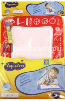 Коврик AquaArt для рисования водой (моноцветный, красный) (Т59439)Водные раскраски<br>Коврик AquaArt для рисования водой.<br>В наборе: коврик, водный маркер.<br>Размер коврика: 30х35 см.<br>Материалы коврика: нейлон 100%, наполнитель: губка, полиэтиленвинилацетат (PEVA).<br>Материал маркера: пластмасса.<br>Для детей от 3-х лет.<br>Сделано в Китае.<br>