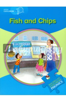 Fish and ChipsЛитература на иностранном языке для детей<br>In the first story Tom wants fish and chips for lunch, but he can t have them. In the second story Tom and Holly find a thin cat who needs fish for lunch.<br>The Macmillan Explorers Phonics bring first language teaching methods to reading lessons in international classrooms. They focus on how reading works, so children are able to read new texts and pronounce new words more easily. The Macmillan Explorers Phonics complement the Macmillan English Explorers and can also be used alongside any other reading programme.<br>