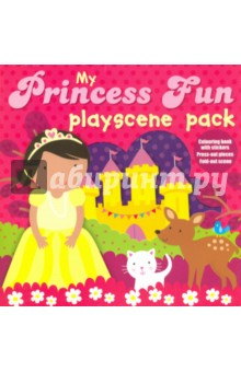 My Princess Fun. Playscene PackЛитература на иностранном языке для детей<br>This interactive playscene pack contains everything you need to keep children occupied for hours!<br>The card box contains: A book with lots of pictures to colour, and stickers with which to decorate the pages. A book with easy-to-use press-out models, to press-out and make. A reversible playscene to fold out and use as a background for the press-out pieces.<br>