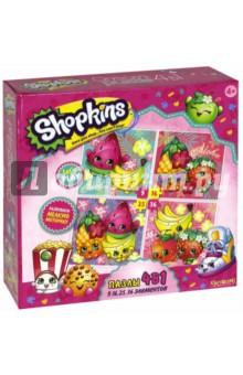 """Shopkins. Пазл 4 в1 """"Tropical"""" (02905) Оригами"""