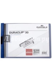 Папка с клипом Duraclip (А4, темно-синий) (224607)Папки с зажимами, планшеты<br>Папка с клипом Duraclip.<br>Формат: А4<br>Цвет клипа: темно - синий.<br>Полупрозрачная.<br>
