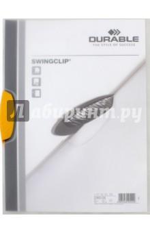 Папка с фигурным клипом Swingclip (А4, желтый) (226004)Папки с зажимами, планшеты<br>Папка с фигурным клипом Swingclip.<br>Формат: А4<br>Цвет клипа: желтый.<br>Полупрозрачная.<br>
