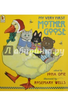 My Very First Mother GooseЛитература на иностранном языке для детей<br>The words one first meets in nursery rhymes will always have a special magic, writes Iona Opie in her foreword to this book. Hey Diddle, Diddle, Humpty Dumpty, Jumping Joan, Wee Willie Winkie, passed on from generation to generation, these rhymes learnt in infancy remain with us forever. Divided into four enticing sections, My Very First Mother Goose contains more than sixty of the most colourful and best-loved nursery rhymes. But what makes it so special are the wonderful watercolour pictures by Rosemary Wells, who has created an engaging and exuberant world filled with distinctive characters - rabbits and cats and mice - guaranteed to delight the youngest child. This is indeed a very first book, a book to be encountered at the earliest possible moment and savoured for an entire lifetime.<br>