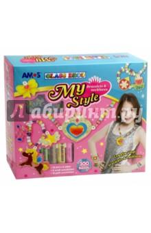 Набор витражных красок Моя стильная бижутерия (22901)Витражные клей-краски, мелки и наборы<br>Набор для создания стильной бижутерии с помощью витражных красок.<br>В набор входят краски 6 цветов по 10,5 мл, 18 мини-витражей, бусины цветные 300 шт, резинка для браслетов и бус.<br>Упаковка: картонная коробка.<br>Для детей от 3 лет.<br>Сделано в Корее.<br>