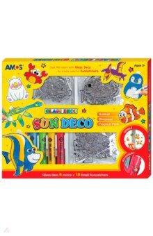 Набор витражных красок с витражами, 6 цветов, 18 штук (22983)Витражные клей-краски, мелки и наборы<br>К набору витражных красок прилагается 18 витражей и 6 красок. Игрушка необходима детям с творческими наклонностями. Многие дети любят рисовать или раскрашивать, приобретая комплект витражных красок, родители будут пробуждать в малыше чувство прекрасного, развивать творческое мышление, фантазию, усидчивость.<br>Упаковка: картонная коробка.<br>Для детей от 3 лет.<br>Сделано в Корее.<br>