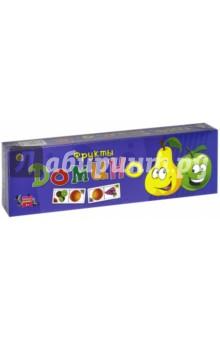 Домино Фрукты (ИН-0338)Домино<br>Домино.<br>Количество игроков: 2-4.<br>Материал: пластик, бумага.<br>Упаковка: картонная коробка.<br>Сделано в России.<br>