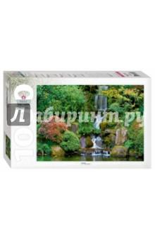 Step Puzzle-1000 Водопад в японском саду (79115)Пазлы (1000 элементов)<br>Пазл Водопад в японском саду - коллекционный пазл из серии Park &amp;amp; Garden collection.<br>Водопад в японской культуре носит символическое значение - непрерывность и бесконечность, ведь вода движется по кругу, не имеющему ни начала, ни конца.<br>Характеристики пазла:<br>-яркое, четкое изображение, точность подгонки деталей;<br>-стандартные детали пазла;<br>-изготовлен из высококачественных нетоксичных материалов;<br>-жесткая стильная упаковка;<br>Количество элементов - 1000<br>Размер собранного изображения - 68 x 48 см.<br>Не рекомендовано детям младше 3-х лет. Содержит мелкие детали.<br>Для детей старше 7-ми лет.<br>Сделано в России.<br>
