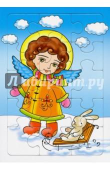 Пазл Ангел с зайчикомПазлы (15-50 элементов)<br>Пазл Ангел с зайчиком для детей 2-4 лет. <br>Развивающая игра для детей.<br>